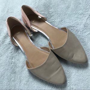 GAP Pointed Toe Vegan Leather Flats Pink G…